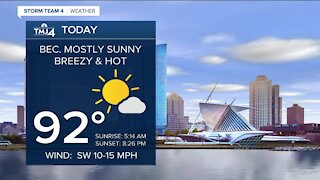 Hot weather kicks off the weekend