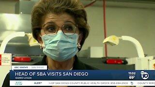Head of SBA visits San Diego