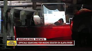 Search underway for missing boater on Alafia River