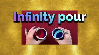 (5) Infinity Ribbon Pour- Easy Acrylic Pouring for Beginners