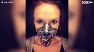 Make-up artist crea spaventosi trucchi di Halloween