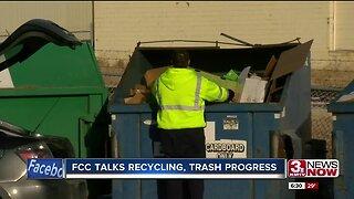 FCC talks recycling, trash process