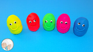 Learn the colors with Play Doh Toys nursery rhymes songs for kids