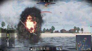 "War Thunder - Naval Battles, ""Skill Matters"" + ""Balancer"" 5th place on team victory"