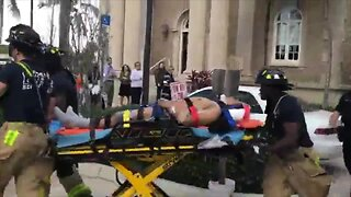 VIDEO: Worker rescued after construction accident in downtown West Palm Beach