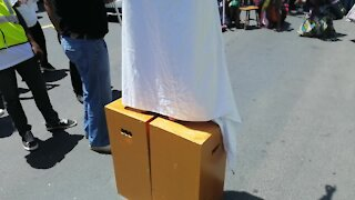 SOUTH AFRICA - Cape Town - SJC Protest Performing Art (Video) (A6i)