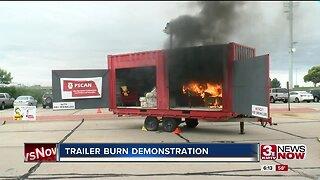 Trailer burn demonstration