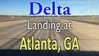 McDonnell Douglas MD-88 Landing at ATL Delta flight DL738