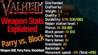 Weapon Stats Explained (Parry vs. Block) - Valheim