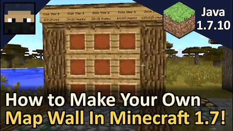 How to Make Maps Fit Together Perfectly! Minecraft Java 1.7.10 (Changed in 1.8+)