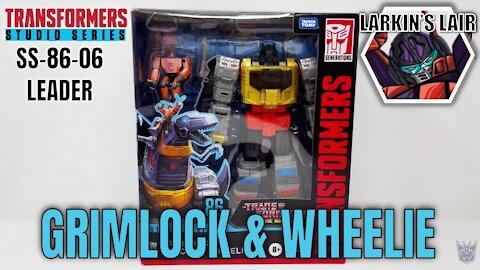 Transformers Studio Series 86-06 Leader Class Grimlock & Autobot Wheelie Review, Larkin's Lair