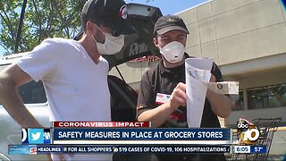 Safety measures in place at grocery stores