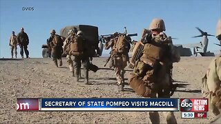 Secretary of State, Mike Pompeo visits MacDill Air Force Base