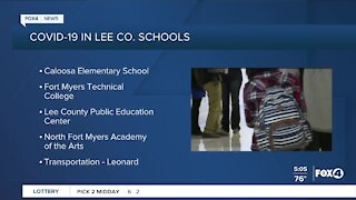 COVID-19 cases in SWFL schools 9/25