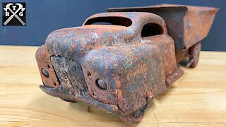 Rescued From A Fire! Antique Toy Restoration
