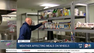 Weather affecting Meals on Wheels