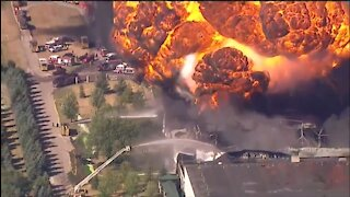 Massive Explosion, Fire At a Chemical Plant