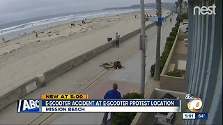 E-Scooter protest at Mission Beach