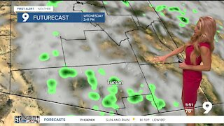 Isolated showers and storms arrive in southern Arizona