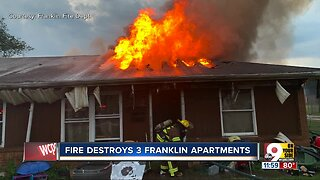 Five displaced in Franklin apartment fire