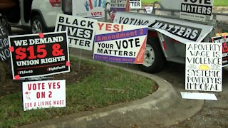 Multiple organizations 'March for $15' in West Palm Beach