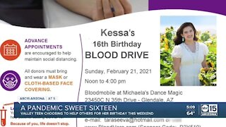 Teen hosts blood drive for Sweet Sixteen to address blood shortage