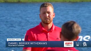 Daniel Berger withdraws from Honda Classic