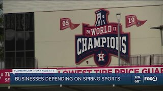 Businesses are looking forward to Spring sports