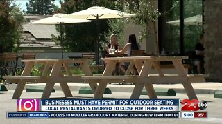 Businesses required to have permit to expand outdoor seating