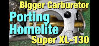 Porting Homelite Super XL-130 Chainsaw! Carb Swap!