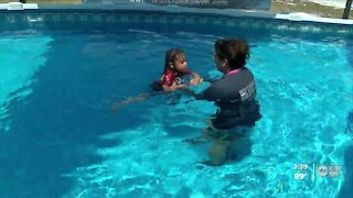 Local swim school offering water survival lessons to low-income families