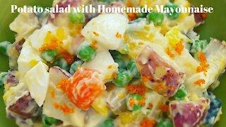 Potato salad with homemade mayonnaise/馬鈴薯沙拉自製美乃滋