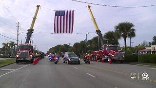 Fallen FHP Trooper Joseph Bullock escorted to Sarasota on Friday