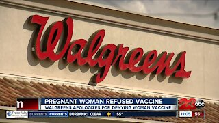 Walgreens apologizes after pregnant Bakersfield woman is refused COVID vaccine