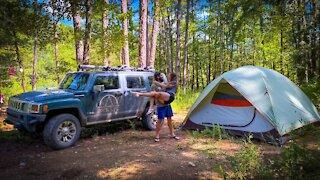 Tent Camping Adventure   Exploring Brushy Creek