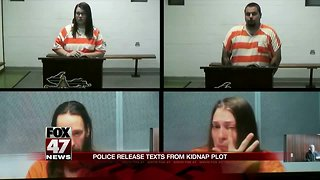 Police release text messages from kidnapping plot
