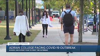 Adrian College facing COVID-19 outbreak