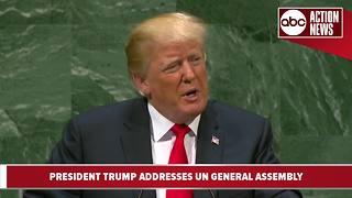 President Trump addresses United Nations