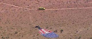 Hot air balloon crashes in desert