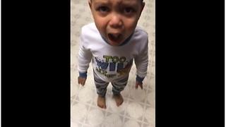 Kid has temper tantrum over mashed potatoes