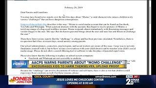 Anne Arundel schools send letter warning parents about 'Momo Challenge'