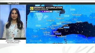 Weekend lake-effect snow across Ontario