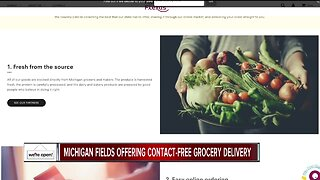 Michigan Fields offering contact free grocery delivery
