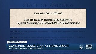 Arizona Governor Ducey issues stay at home order