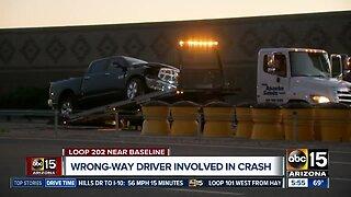 Wrong-way driver involved in crash in Mesa