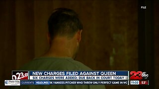 New charges filed against Matthew Queen