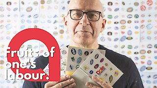 Man turns obscure fruit sticker hobby into a business