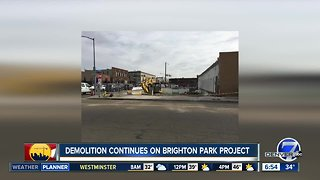Demolition continues for Brighton Park project