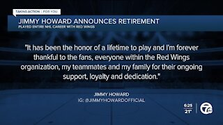 Jimmy Howard announces retirement from NHL