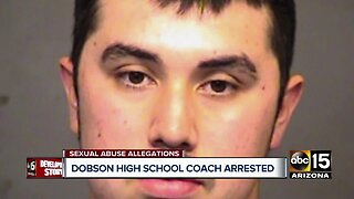 Dobson HS coach arrested for sexual conduct with two female athletes